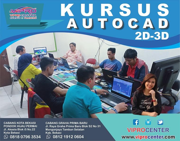 Tempat Kursus dan Pelatihan AUTOCAD di daerah Bekasi dan Jatiasih